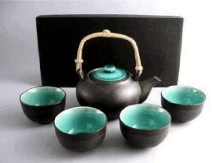 japanese tea set cast iron